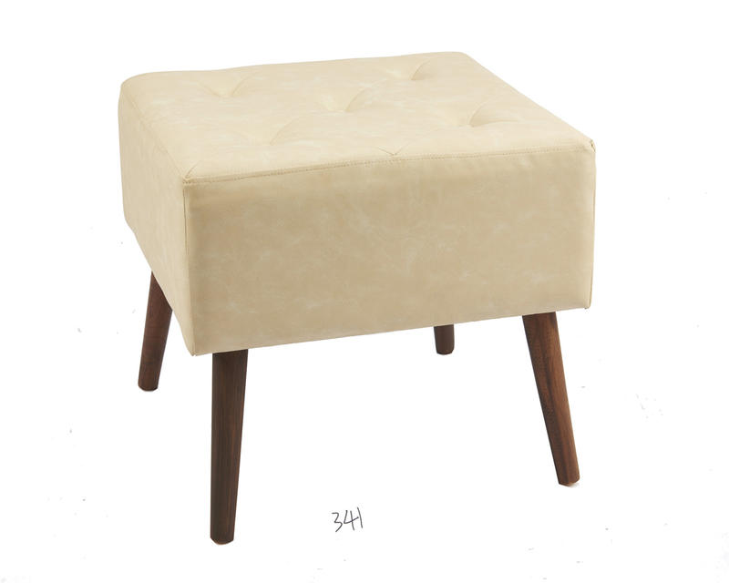 Wooden Soft Leather Stool Wholesale