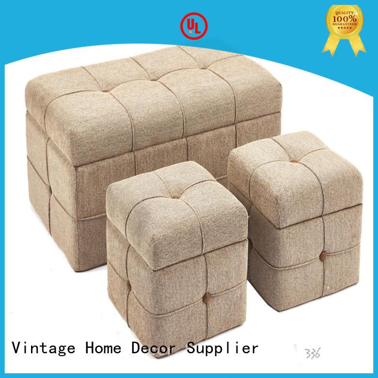 gradual round storage stool customized for hotel