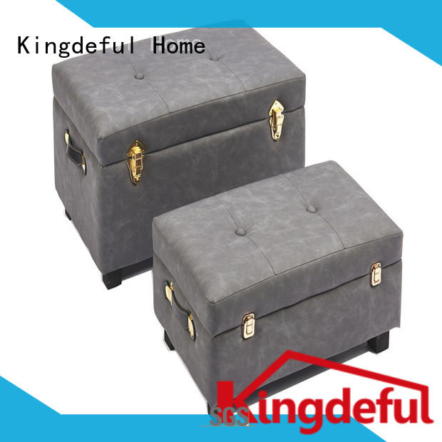 pink wooden storage stool from China for hotel