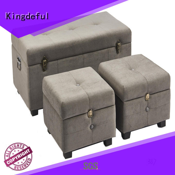 Kingdeful large storage footstool from China for hotel