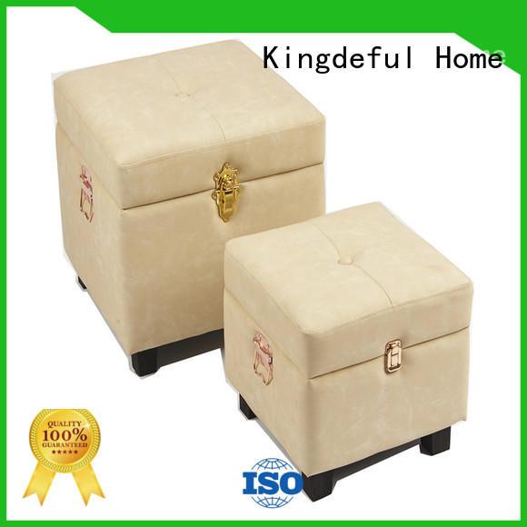 Kingdeful brown stool storage box customized for hotel
