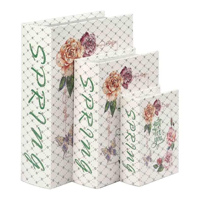 Vintage Floral Design Book Box Wholesale