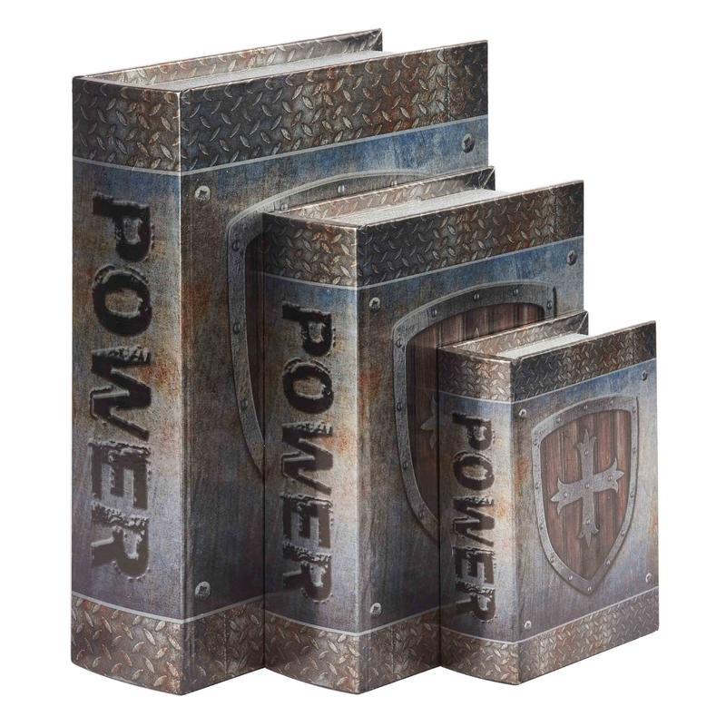 Set of 3 Gradual Book Shaped Boxes Wholesale