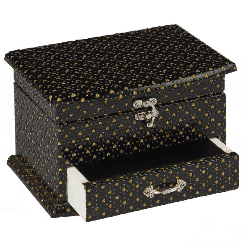 Black Jewelry Boxes with Drawer Wholesale