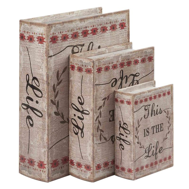 Rural Style Book Shaped Boxes Wholesale