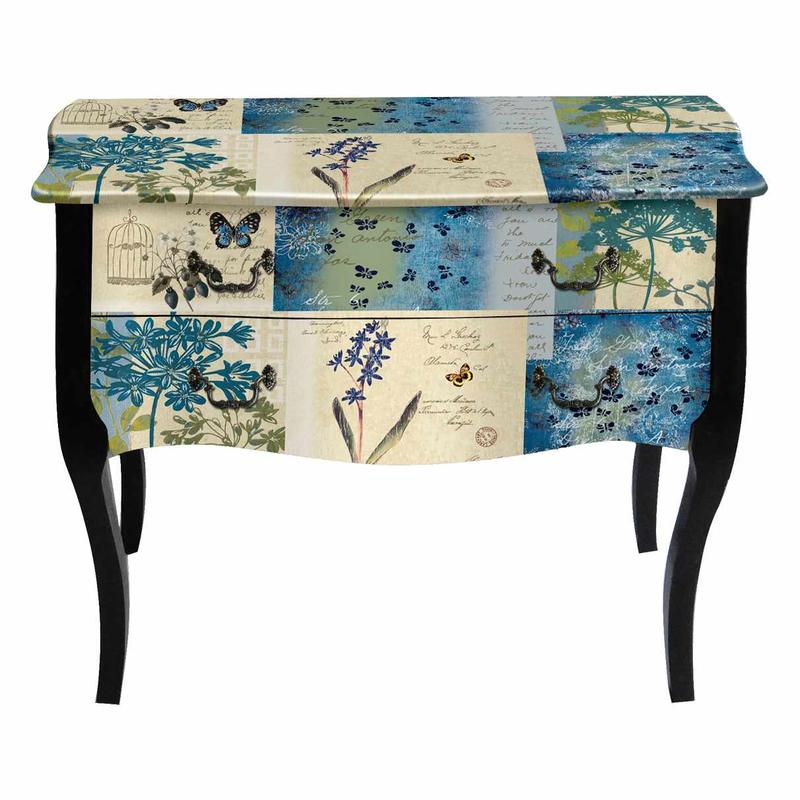 Blue Bedside Tables KD063