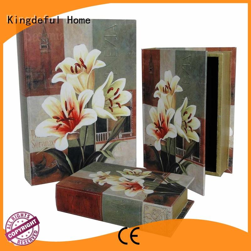 Kingdeful vintage book box from China for home