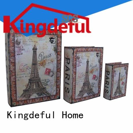 Kingdeful gold vintage book box from China for home