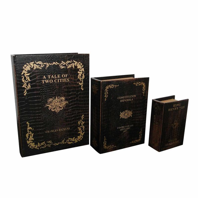 Wooden Book Boxes SJ14164
