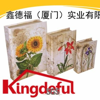 Kingdeful classic old style book box from China for library