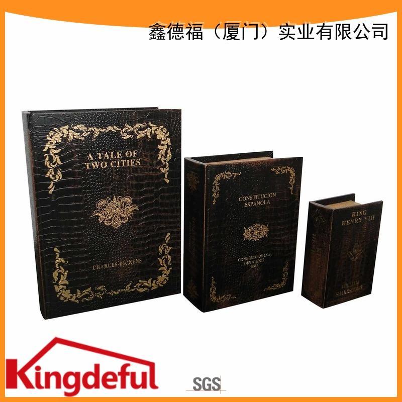 Kingdeful safe Book Box Suppliers wood for kids