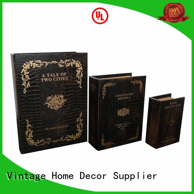 Kingdeful beautiful retro book box directly sale for schoolroom