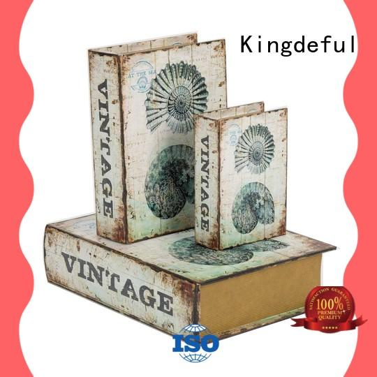 Kingdeful vintage book storage boxes from China for library