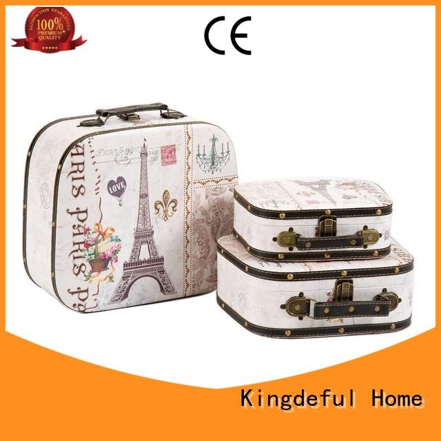 Kingdeful retro Vintage Suitcase Wholesale with good price for outdoor