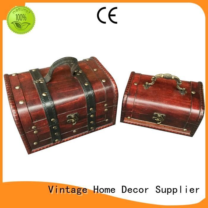 Kingdeful decorative vintage trunk with good price for indoors