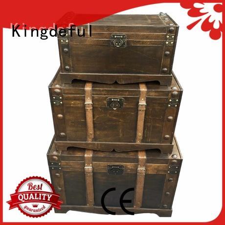 Kingdeful decorative storage trunks design for indoors