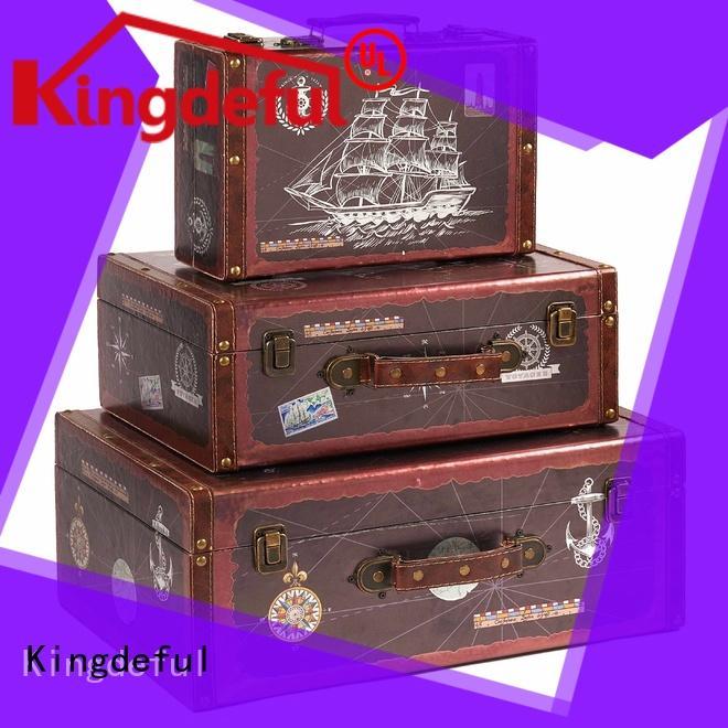 Kingdeful popular old suitcase factory for travel