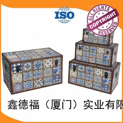 Kingdeful white antique storage trunk manufacturer for hotel