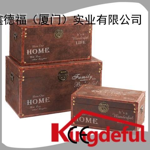 Kingdeful vintage storage trunks and chests series for hotel