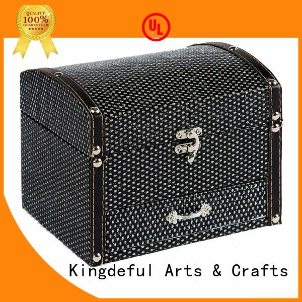Kingdeful Brand embossed size wood wooden box with lid manufacture