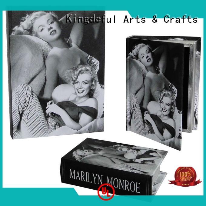 Kingdeful Brand crafts secret fake custom Decorative Book Boxes Wholesale