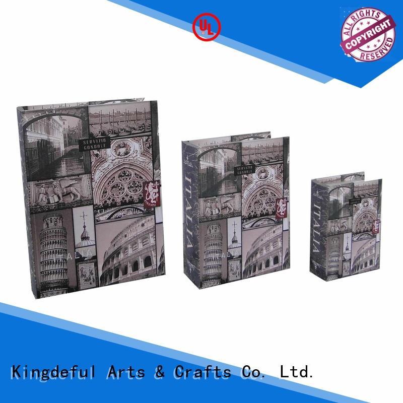 Decorative Book Boxes Wholesale shaped vintage decorative book boxes decor Kingdeful Brand