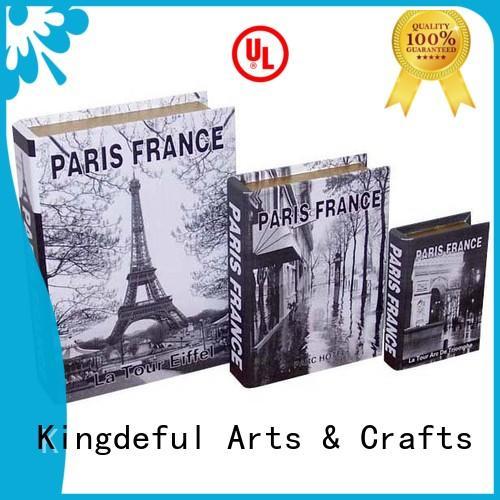 Custom trinket small decorative book boxes Kingdeful gift