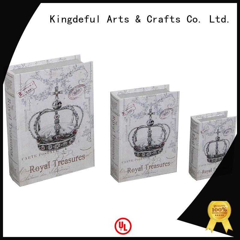 book  decorative  decor small OEM decorative book boxes Kingdeful faux  boxes