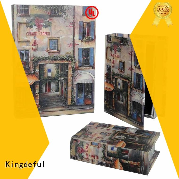 antique canvas crafts decorative book boxes case Kingdeful