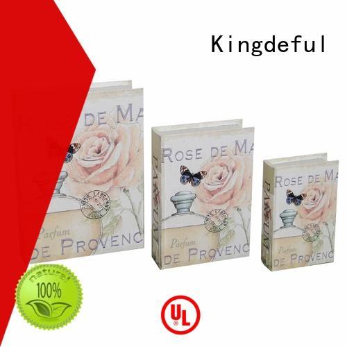 crafts custom retro Kingdeful Brand decorative book boxes supplier