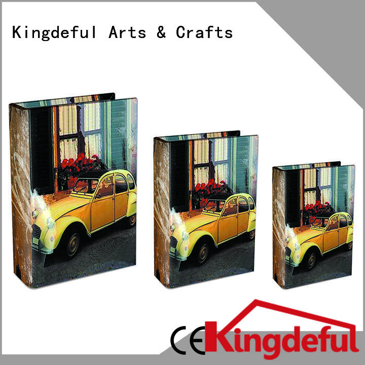 Decorative Book Boxes Wholesale custom trinket Kingdeful Brand decorative book boxes