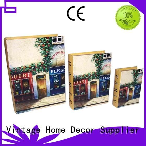 Wholesale chic wooden decorative book boxes Kingdeful Brand