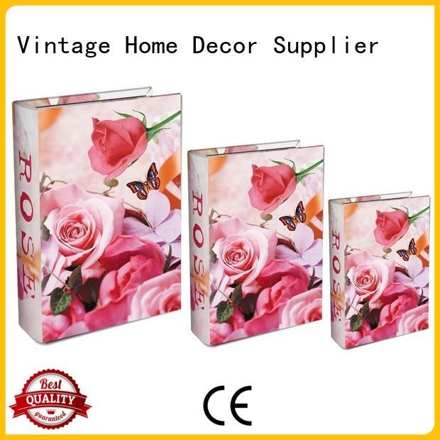 Hot retro decorative book boxes set safe Kingdeful Brand