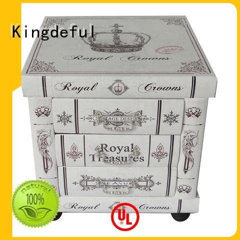 Decorative Boxes Suppliers wholesale dressing Kingdeful Brand wooden box with lid