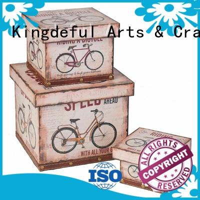Kingdeful Brand blue Decorative Boxes Suppliers bulk supplier