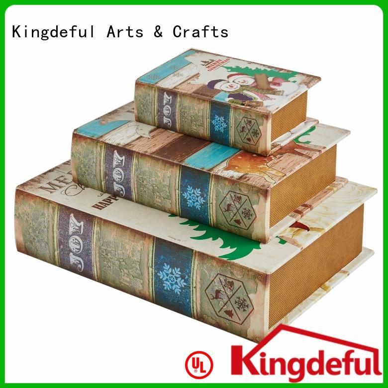 Decorative Book Boxes Wholesale faux Bulk Buy case Kingdeful