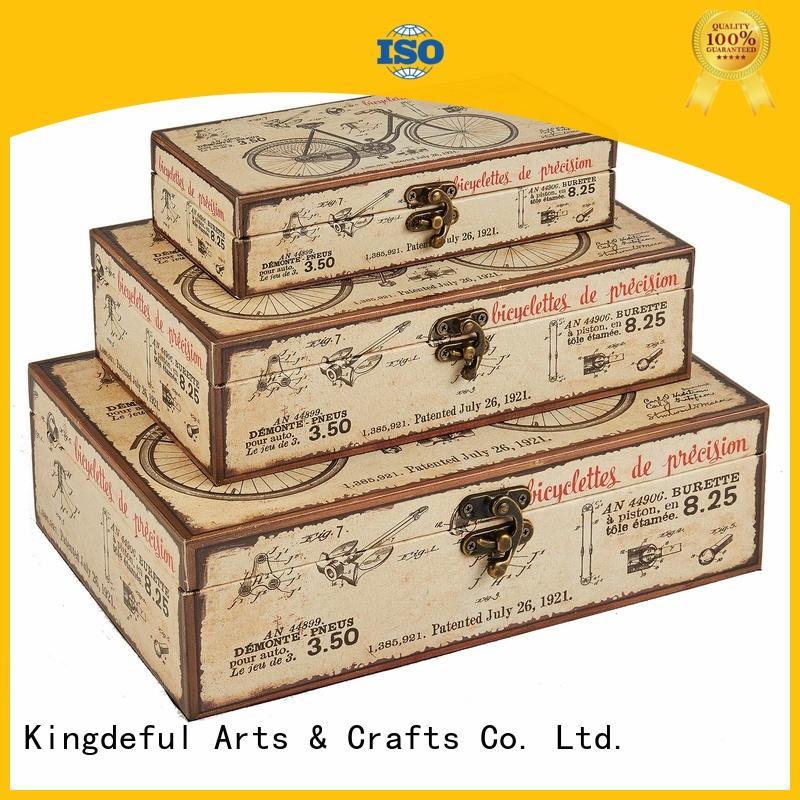 Kingdeful Brand cube square blue Decorative Boxes Suppliers