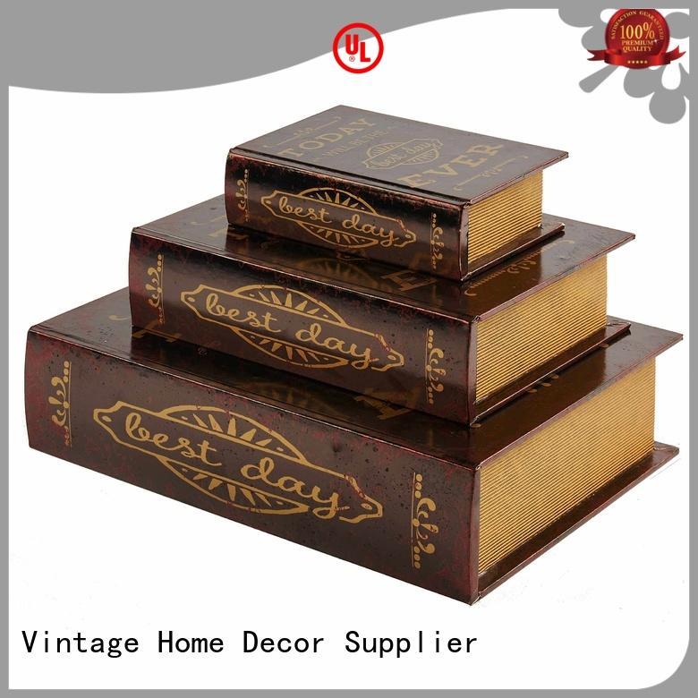 shaped decorative book boxes leather Kingdeful company