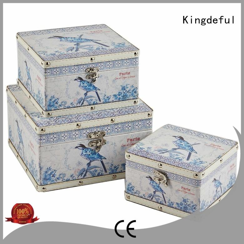 Kingdeful Brand silver up trinket wooden box with lid manufacture