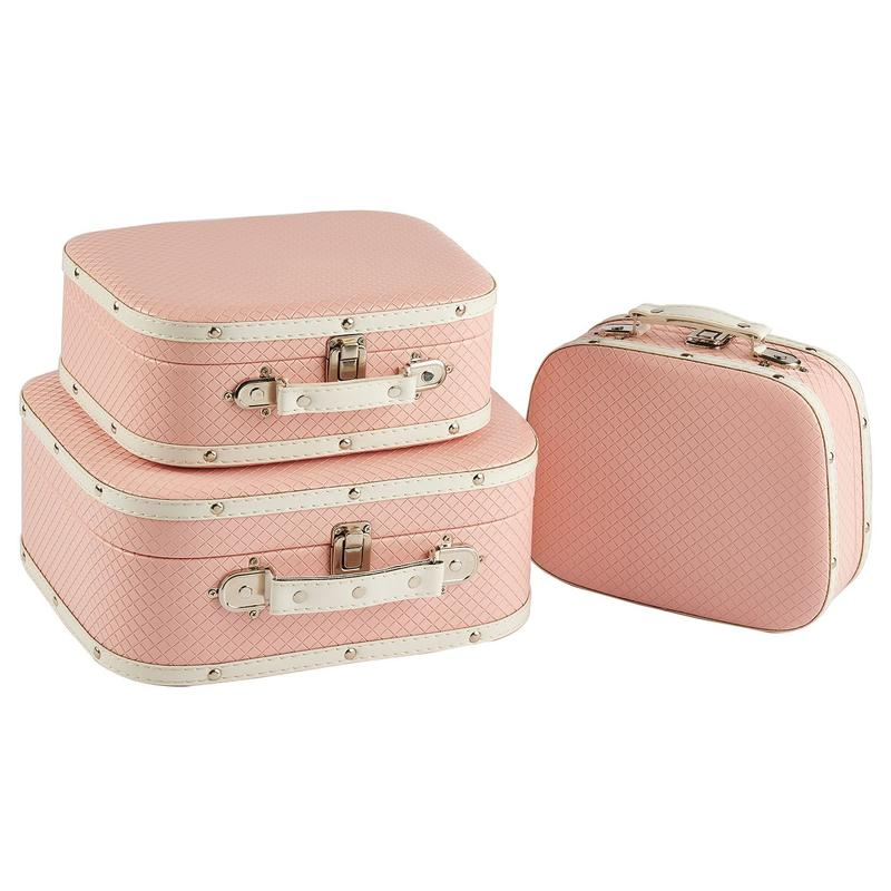 Wholesale Pink Wooden Suitcase