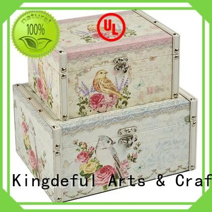 chic boxes keepsake wooden box with lid Kingdeful