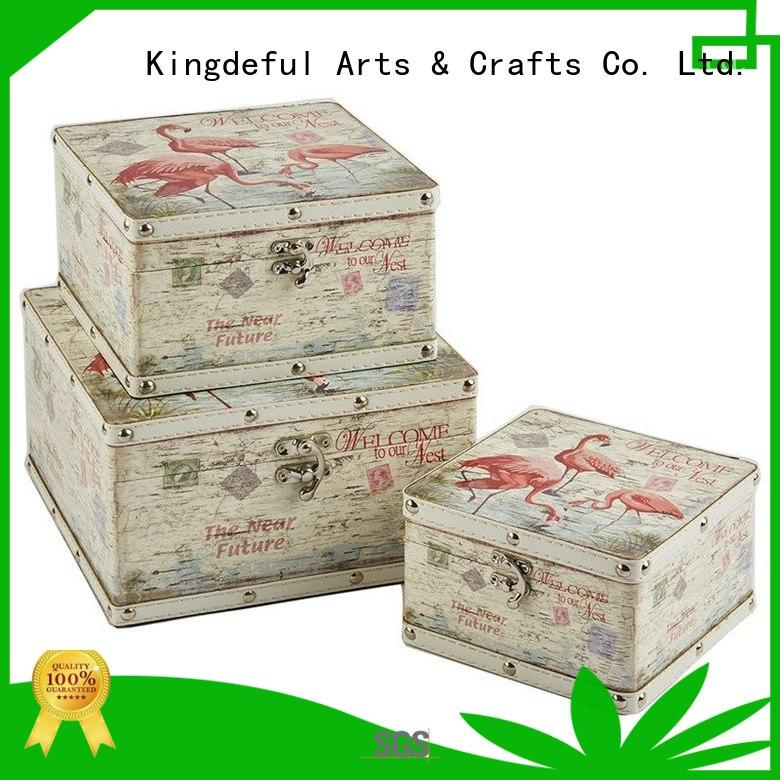 Kingdeful Brand holder wood cheap wooden box with lid manufacture