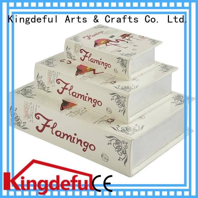 Quality Kingdeful Brand vintage decorative book boxes