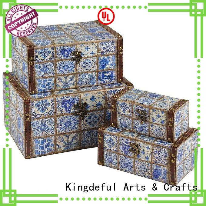 accent Custom boxes table wooden box with lid Kingdeful gift