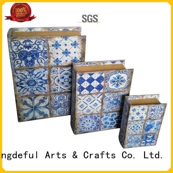 Decorative Book Boxes Wholesale safe crafts boxes Warranty Kingdeful