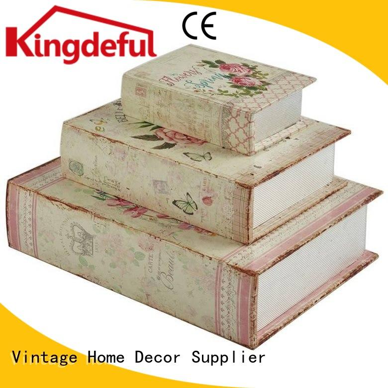 trinket leather craft decorative book boxes decoration Kingdeful Brand