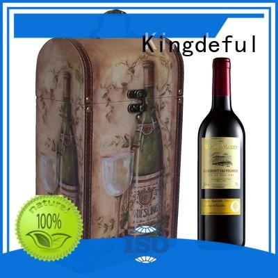 box boxes Kingdeful Brand wooden wine boxes for sale