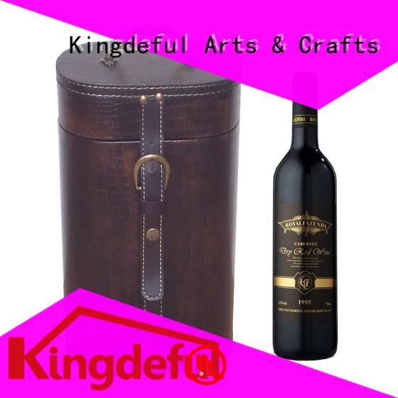 wooden storage gift bottle Custom Wooden Wine Box Kingdeful Brand