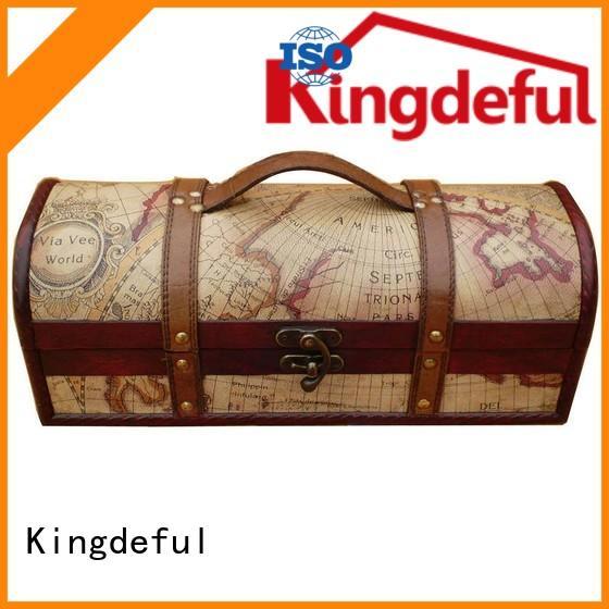 bottle Custom Wooden Wine Box box wooden Kingdeful Brand